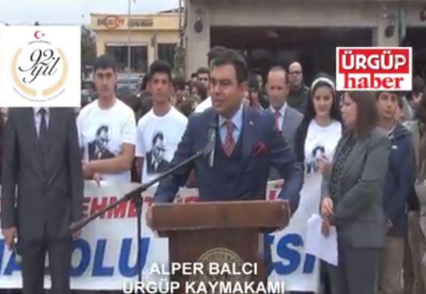 Ürgüp Kaymakamı Alper Balcının 2015 Cumhuriyet Bayramı