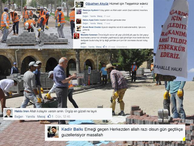 Vatandaşlar Belediyenin Yol Çalışmalarını Takdir