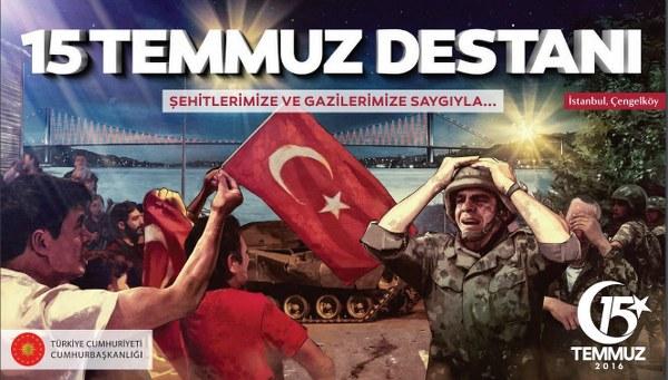 Ürgüpte 15 Temmuz Demokrasi ve Milli Birlik günü