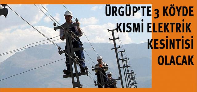3 Köyde Elektrik Kesintisi