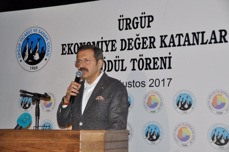 Başkan İstedi TOBB Başkanı Ürgüpe Okul Sözü