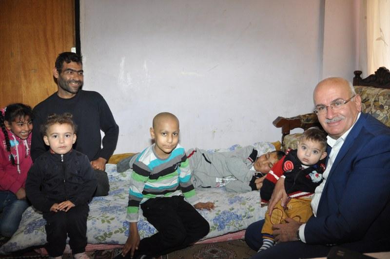 Başkan Yıldızdan Suriyeli Aileye