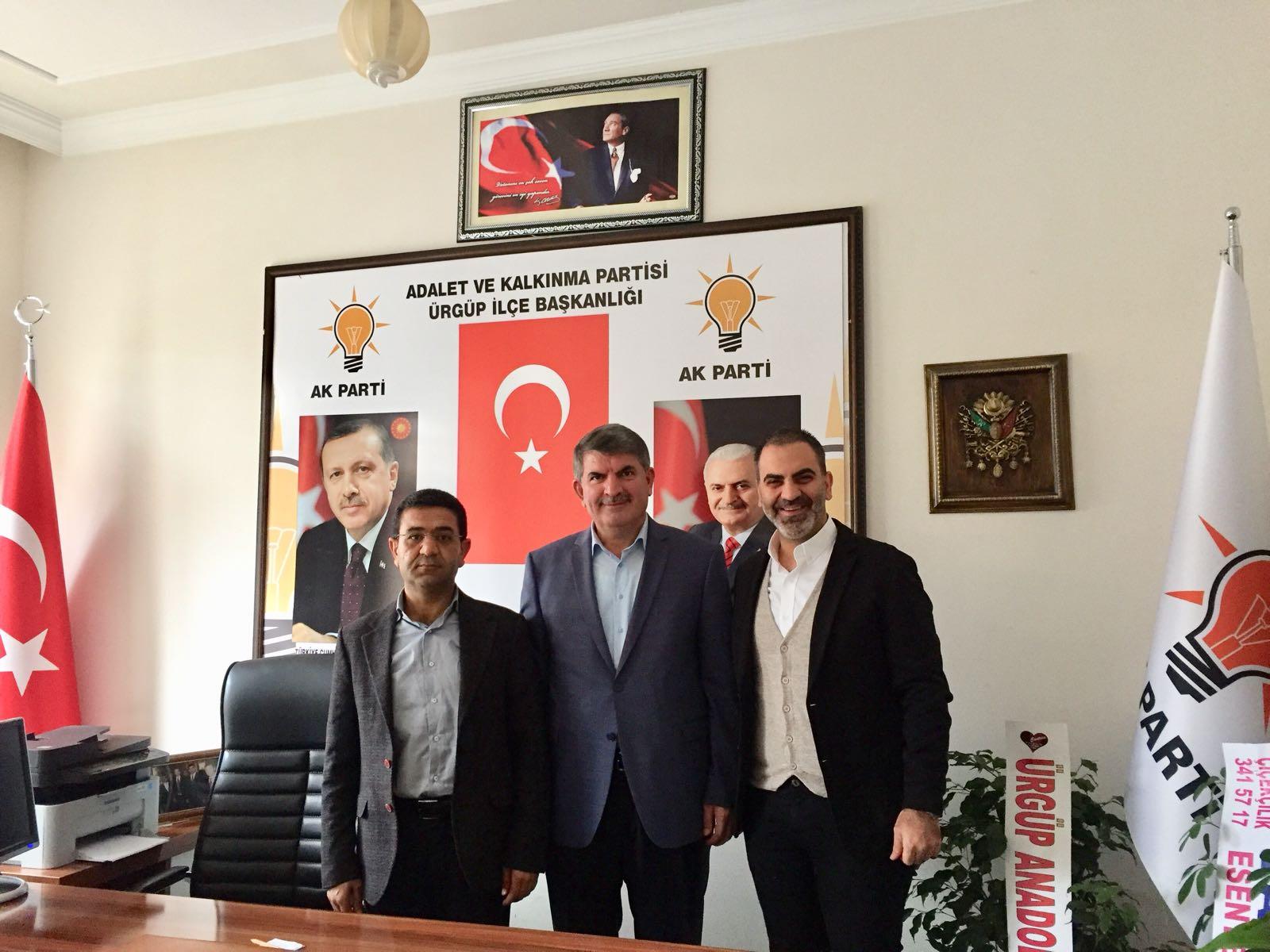 Ak Parti İlçe Başkanı Ali Özere Ziyaretler Devam