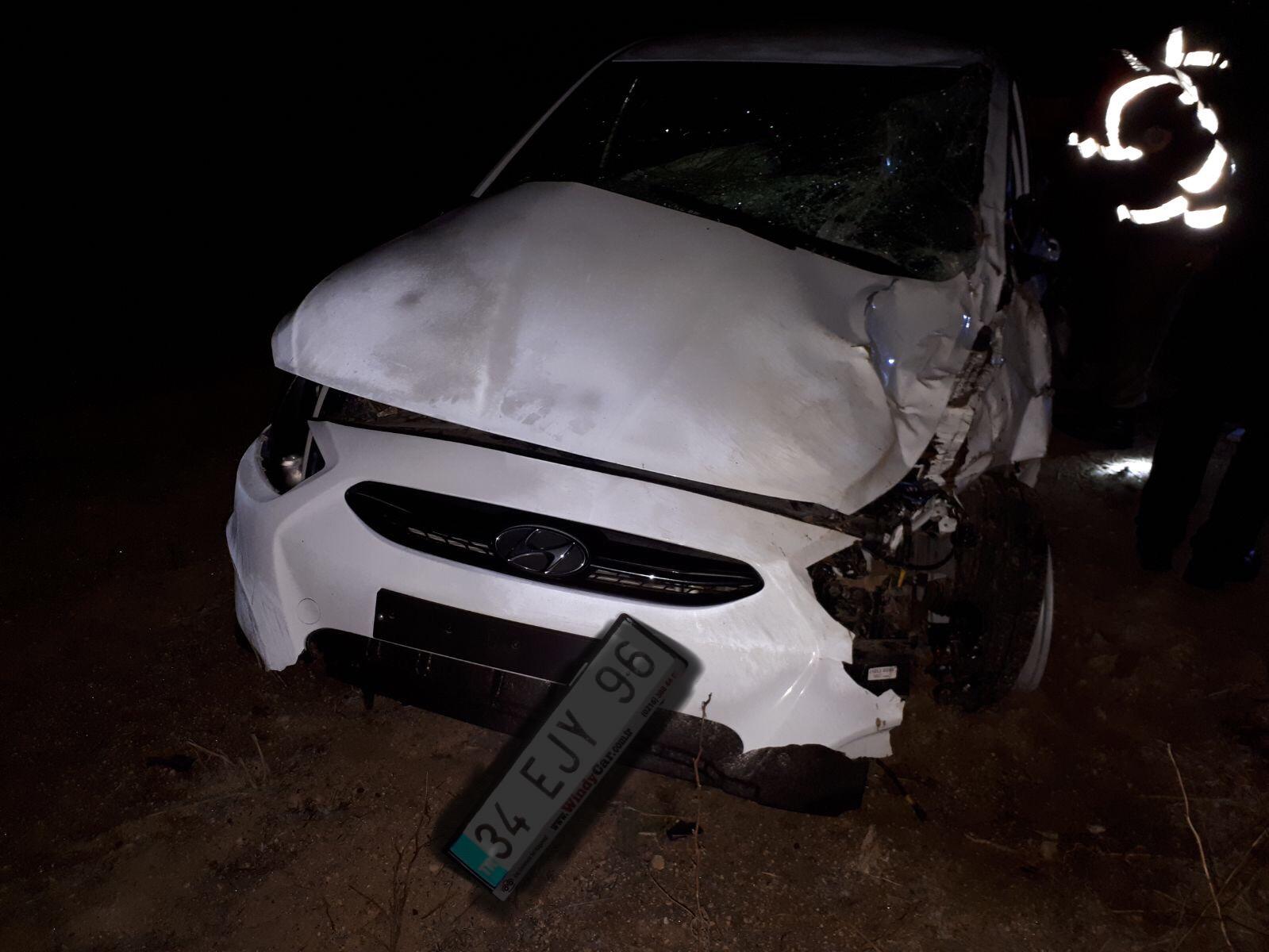 Mustafapaşa yolunda kaza 1 ölü 3