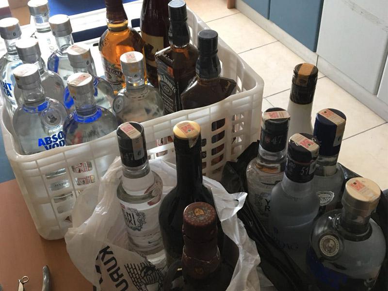 Ürgüpte sahte ve kaçak içki denetimi