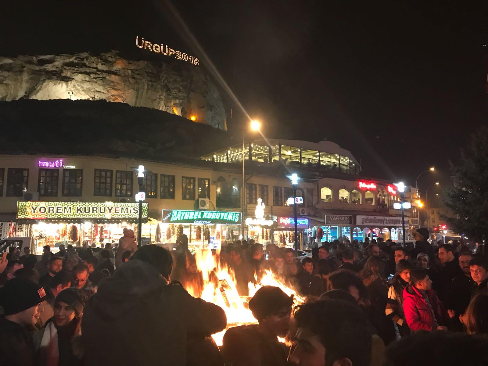 Ürgüpte Ateş Başında 2018 Yılına