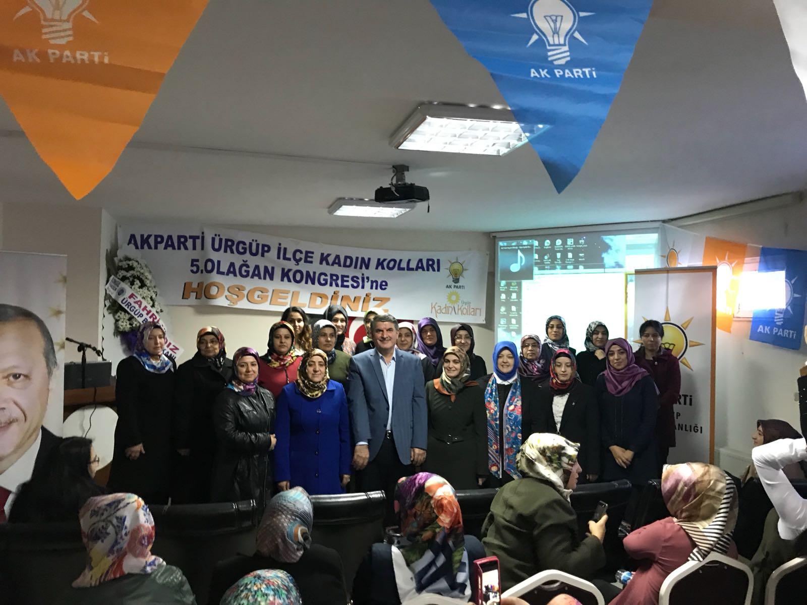 Ürgüp'te Ak Parti Kadın Kolları Kongresi yapıldı