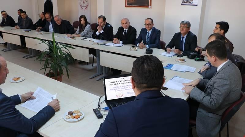 Ürgüp'te hayat boyu öğrenme komisyon toplantısı