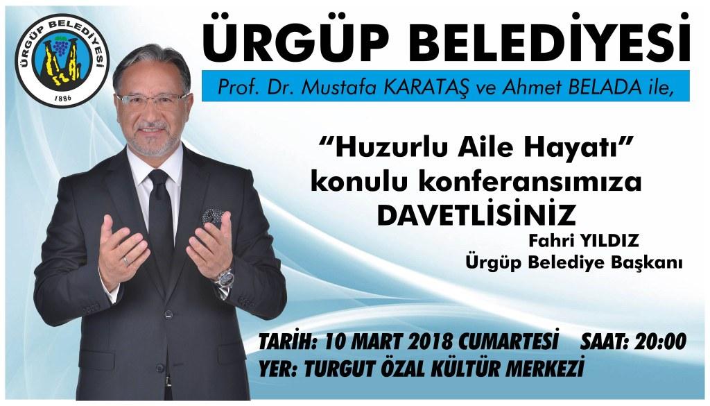 Prof. Dr. Mustafa Karataş Ürgüp'e Geliyor
