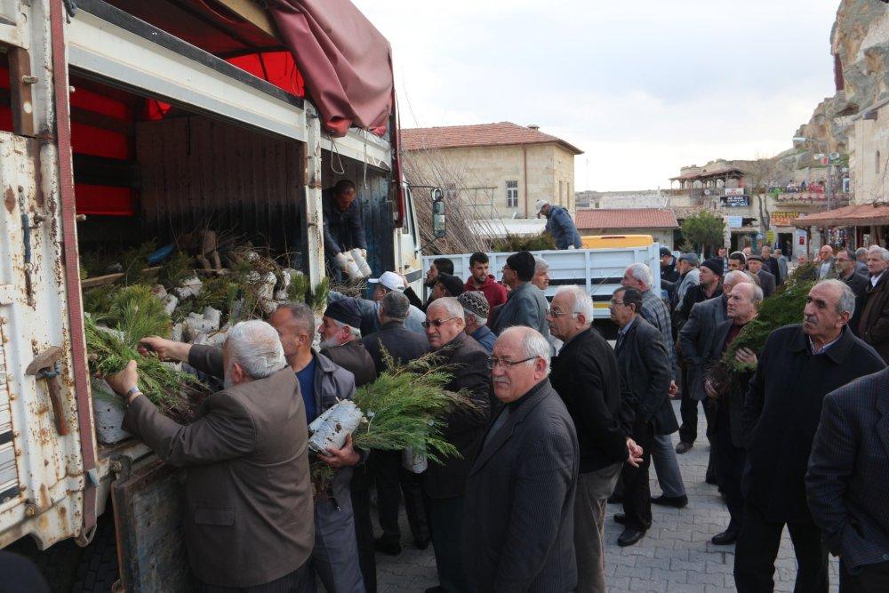 Ortahisar'da 8.500 ücretsiz fidan dağıtıldı