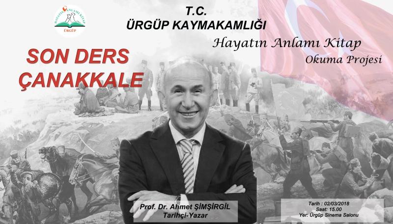 Prof. Dr. Ahmet Şimşirgil Ürgüp'e geliyor