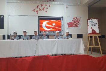 Öğrencilerden Afrin Şehitleri İçin