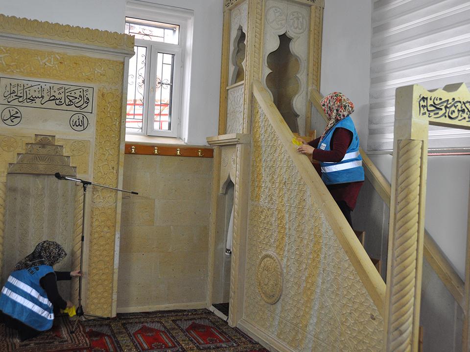 Ürgüp'te Camilerin Temizliği Ürgüp Belediyesinden