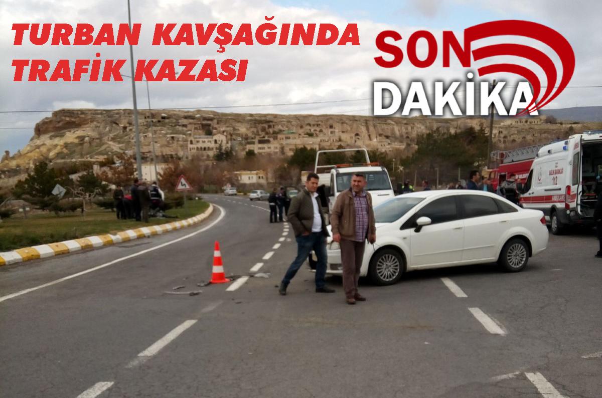 Turban Kavşağında Trafik Kazası 5 Yaralı