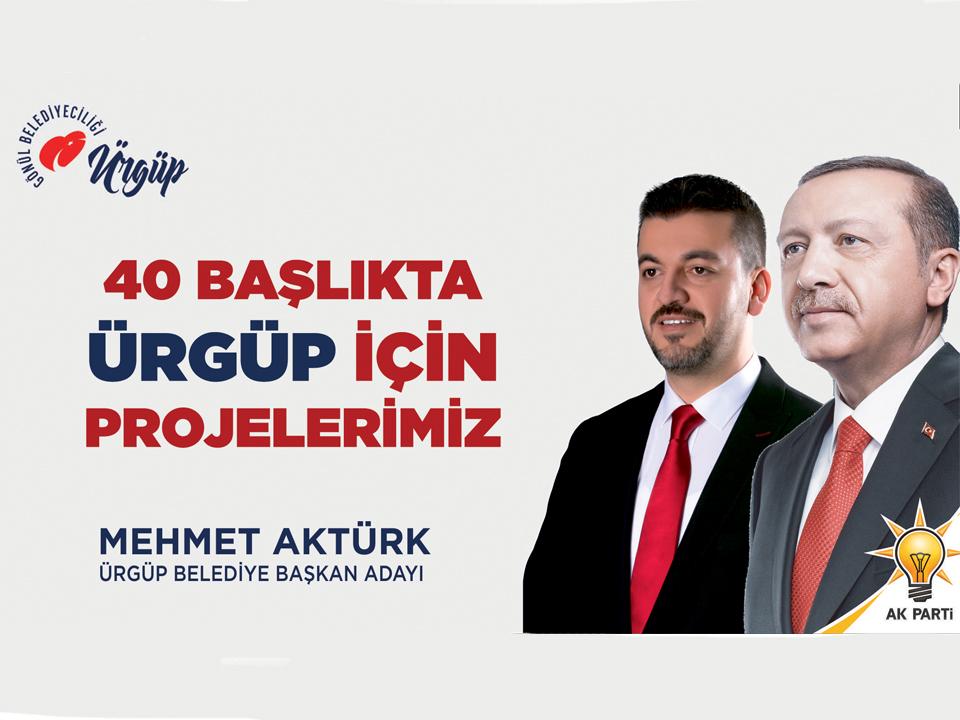 Ak Parti Adayı Aktürk Ürgüp İçin Projelerini Paylaştı