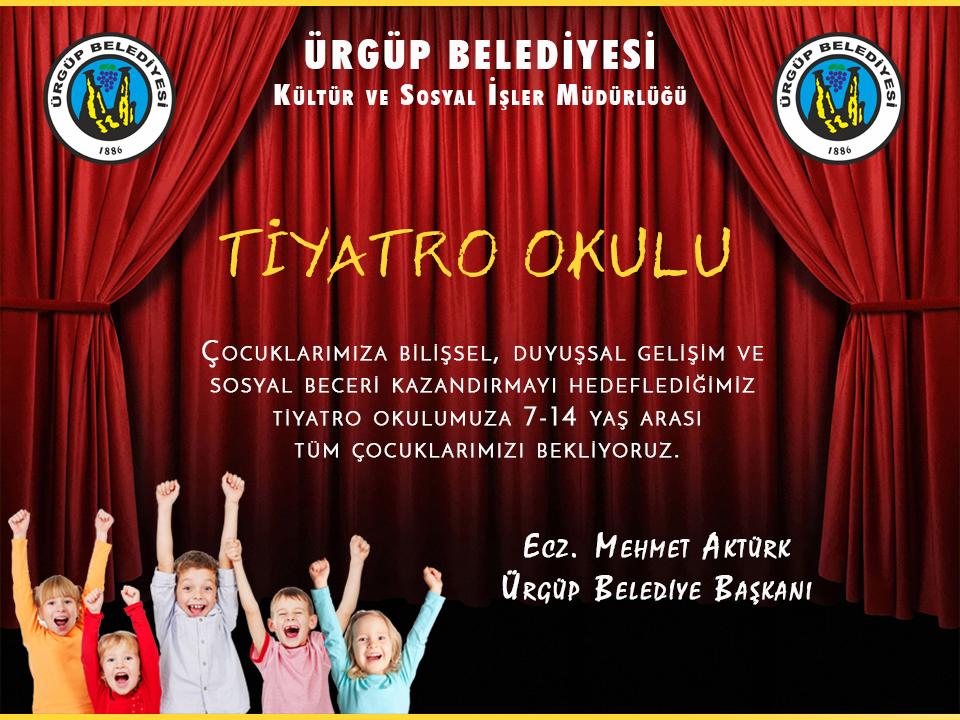 Ürgüp Belediyesi Tiyatro Okulu Açıyor