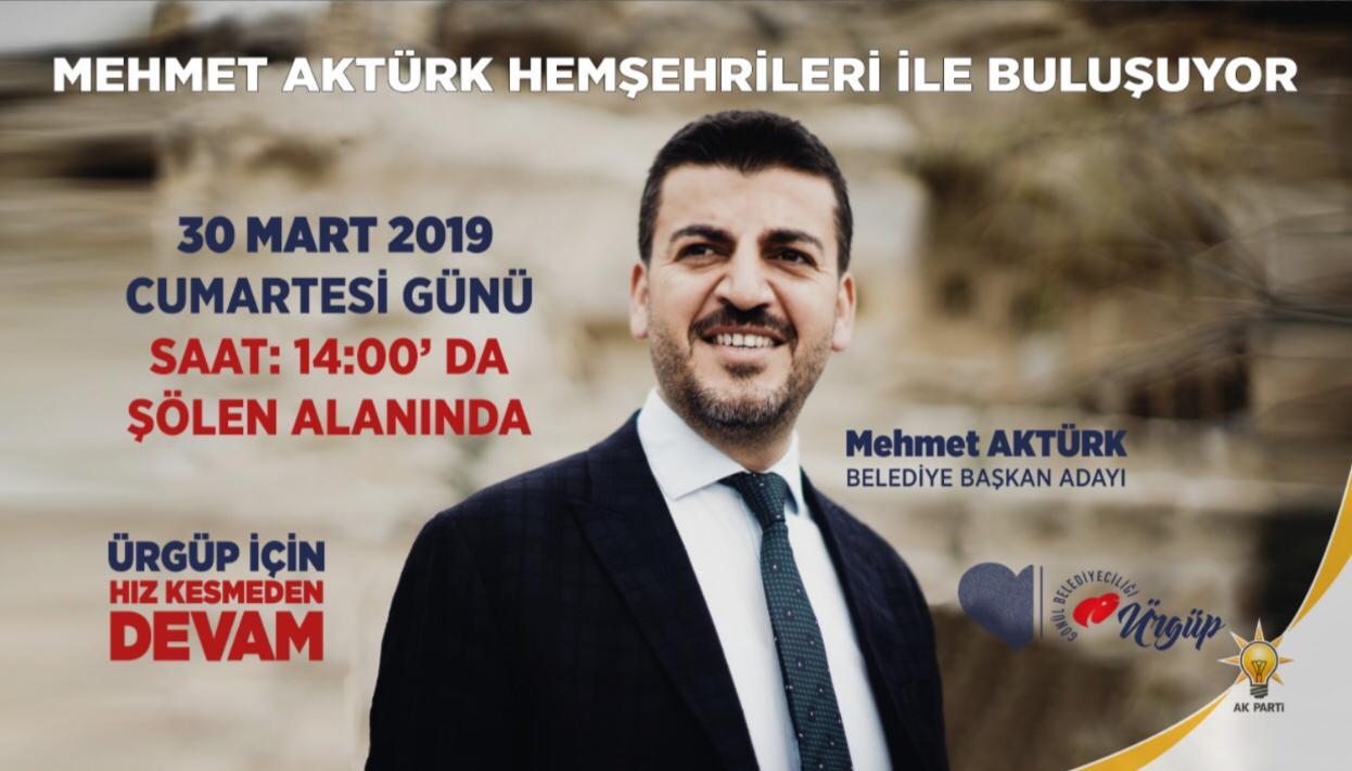 Mehmet Aktürk'ten Seçim Mitingine Davet