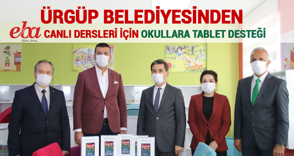 Ürgüp Belediyesi'nden Okullara Tablet Desteği