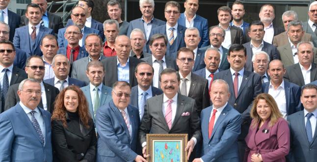 TOBB Başkanı Hisarcıklıoğlu'na ziyaret
