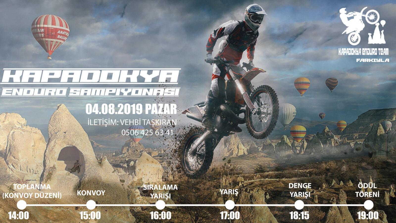 Kapadokya Enduro Şampiyonası Ürgüp'te Yapılacak