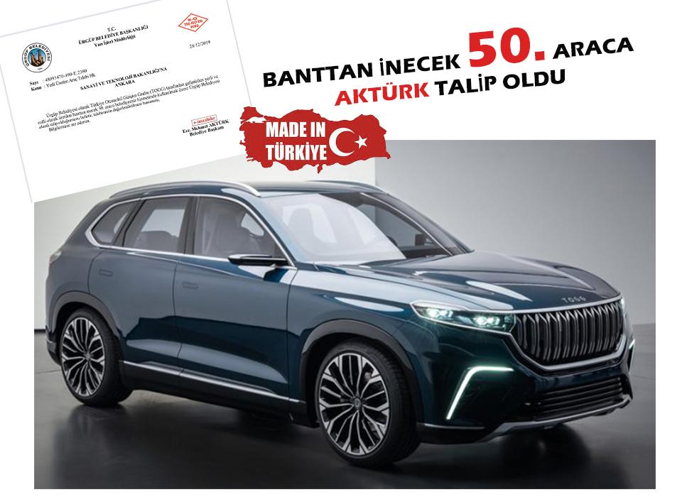 Başkan Aktürk Yerli Otomobilin ön siparişini verdi