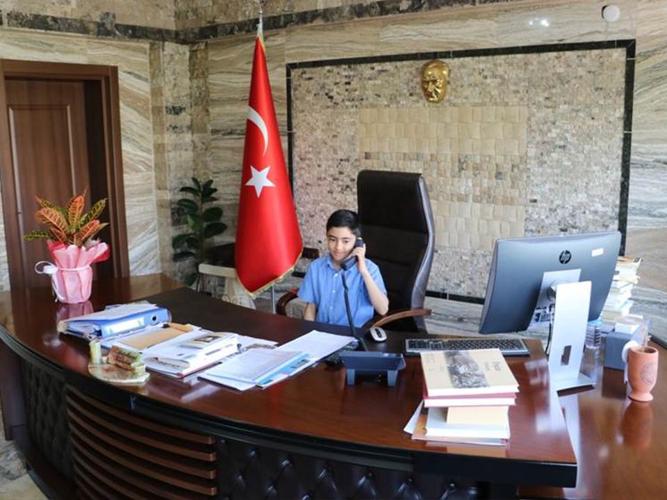 Türkan Diker İlkokulu Öğrencileri Kaymakam Oldu
