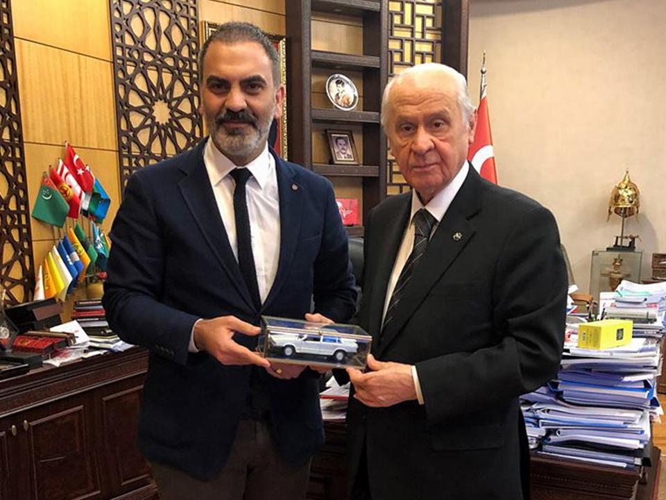 DİNLER'den MHP Lideri BAHÇELİ'ye Ziyaret