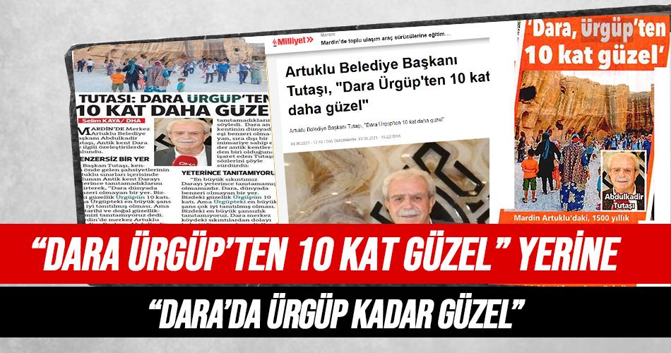 Artuklu Belediye Başkanı 'Dara Ürgüp'ten 10 Kat Güzel'