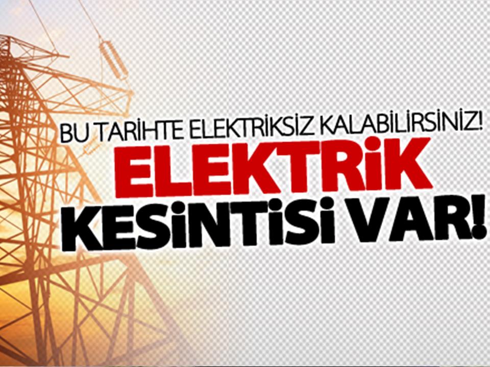 Ürgüp'te elektrik kesintisi yapılacak
