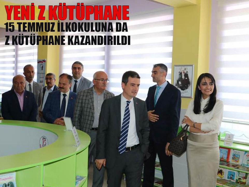 15 Temmuz İlkokuluna Z Kütüphane Açıldı