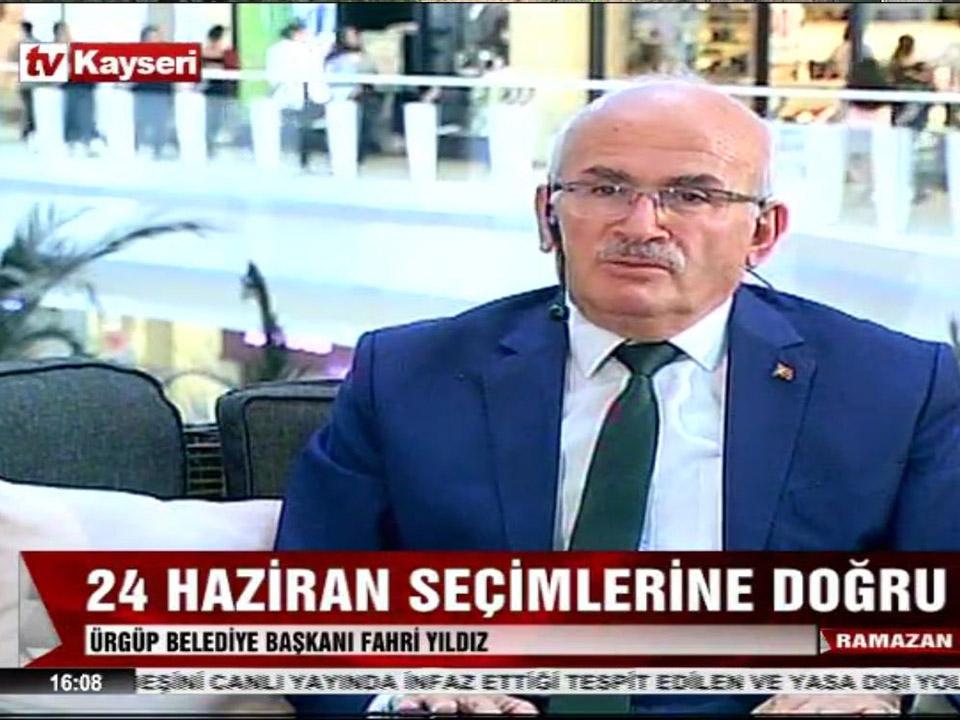 Başkan Yıldız, Tv Kayseri Canlı Yayınına Katıldı