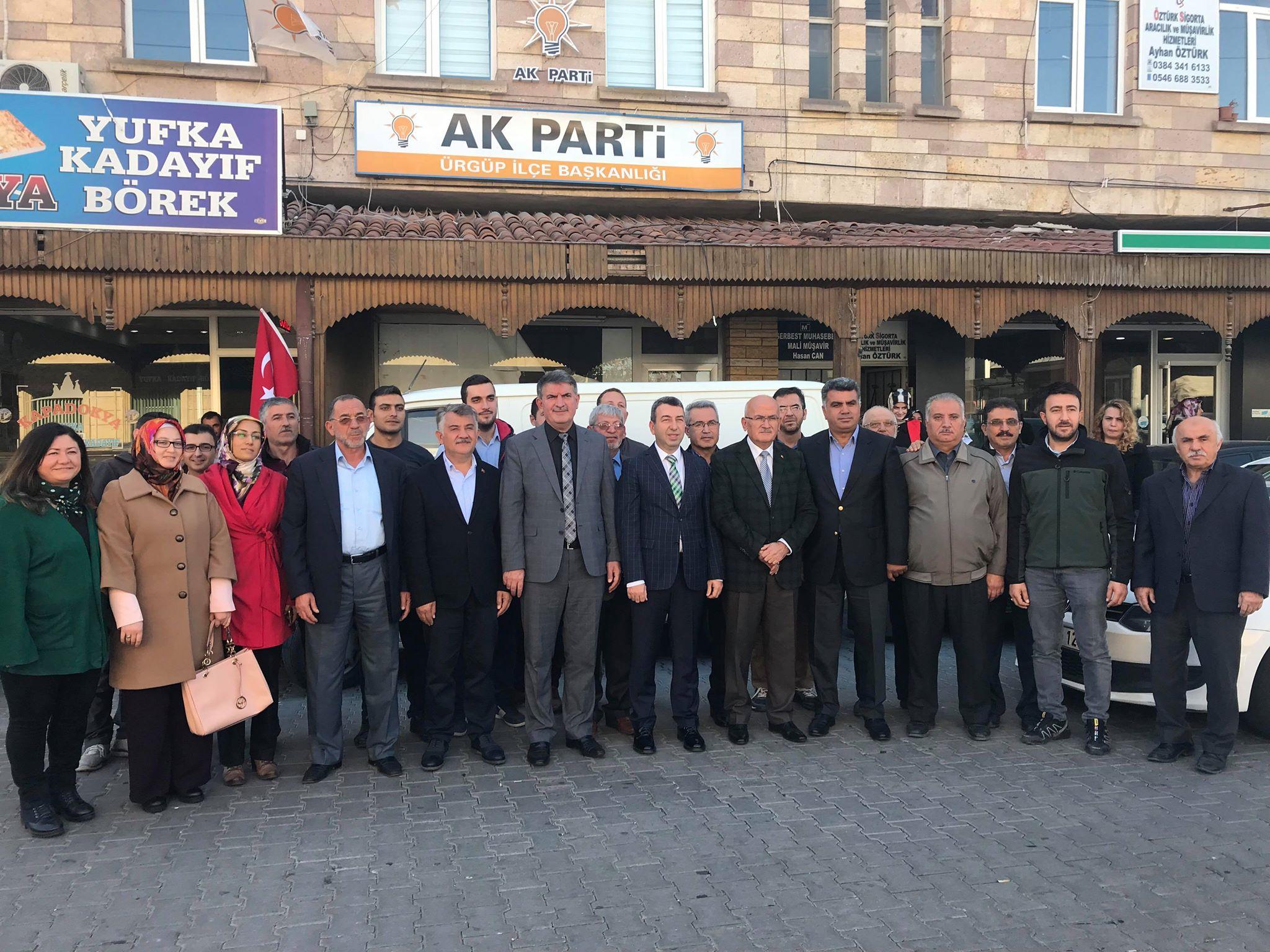 Ak Parti Genel Merkez Bölge Sorumlusu Ürgüp'te Toplantı yaptı