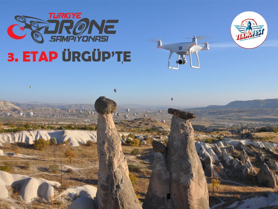 Türkiye Drone Şampiyonası 3. etap mücadelesi Ürgüp'te