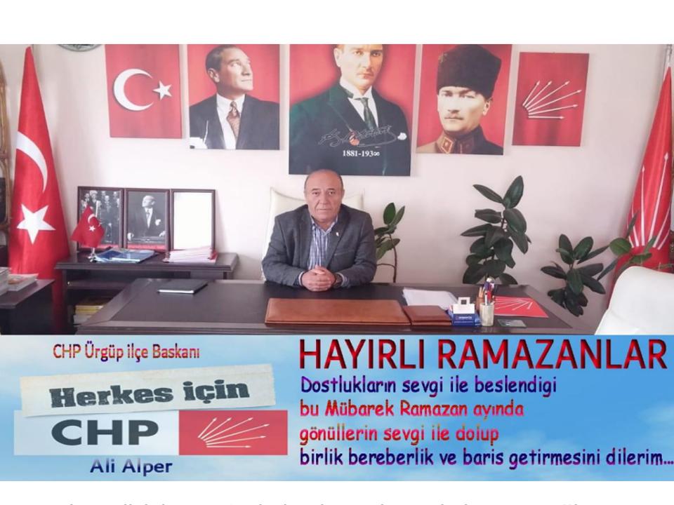 CHP İlçe Başkanı Ali Alper'in Ramazan Ayı Mesajı