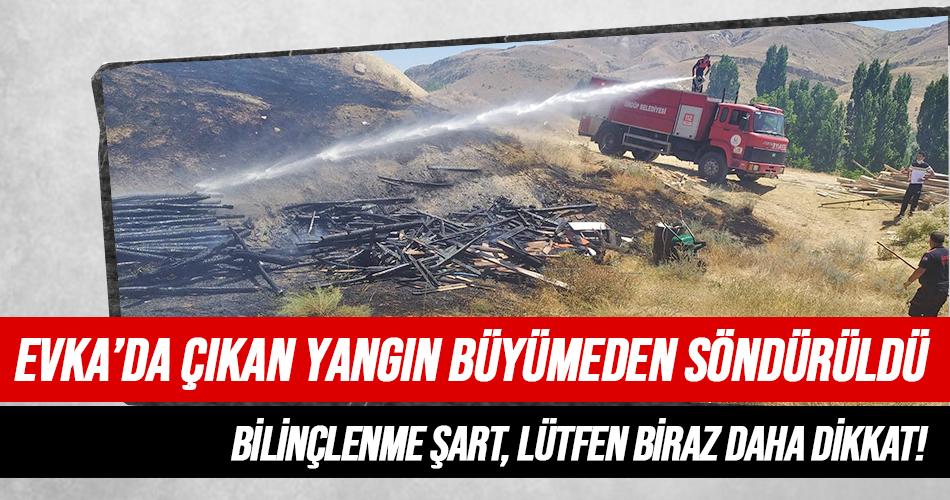 İtfaiye Evka'da Çıkan Yangını Kısa Sürede Kontrol Altına Aldı