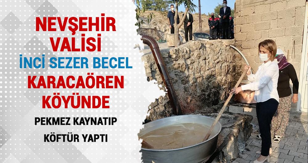 Nevşehir Valisi Karacaören Köyünde Bağ Bozumuna katıldı