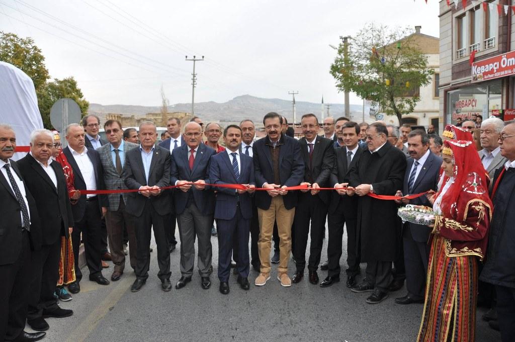Ürgüp'te Rifat Hisarcıklıoğlu Caddesinin Açılışı Yapıldı