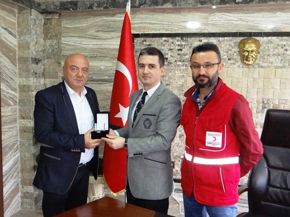 Türk Kızılayı Kaymakam Maraşlı'yı Ziyaret Etti