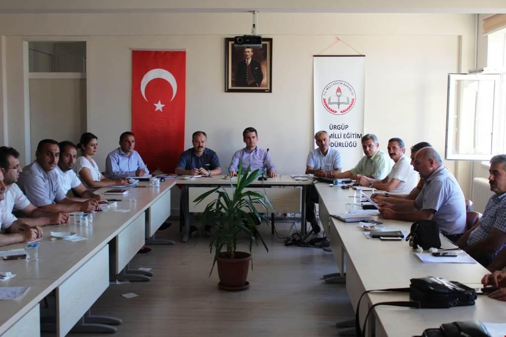 Okul Müdürleriyle Toplantı Yapıldı