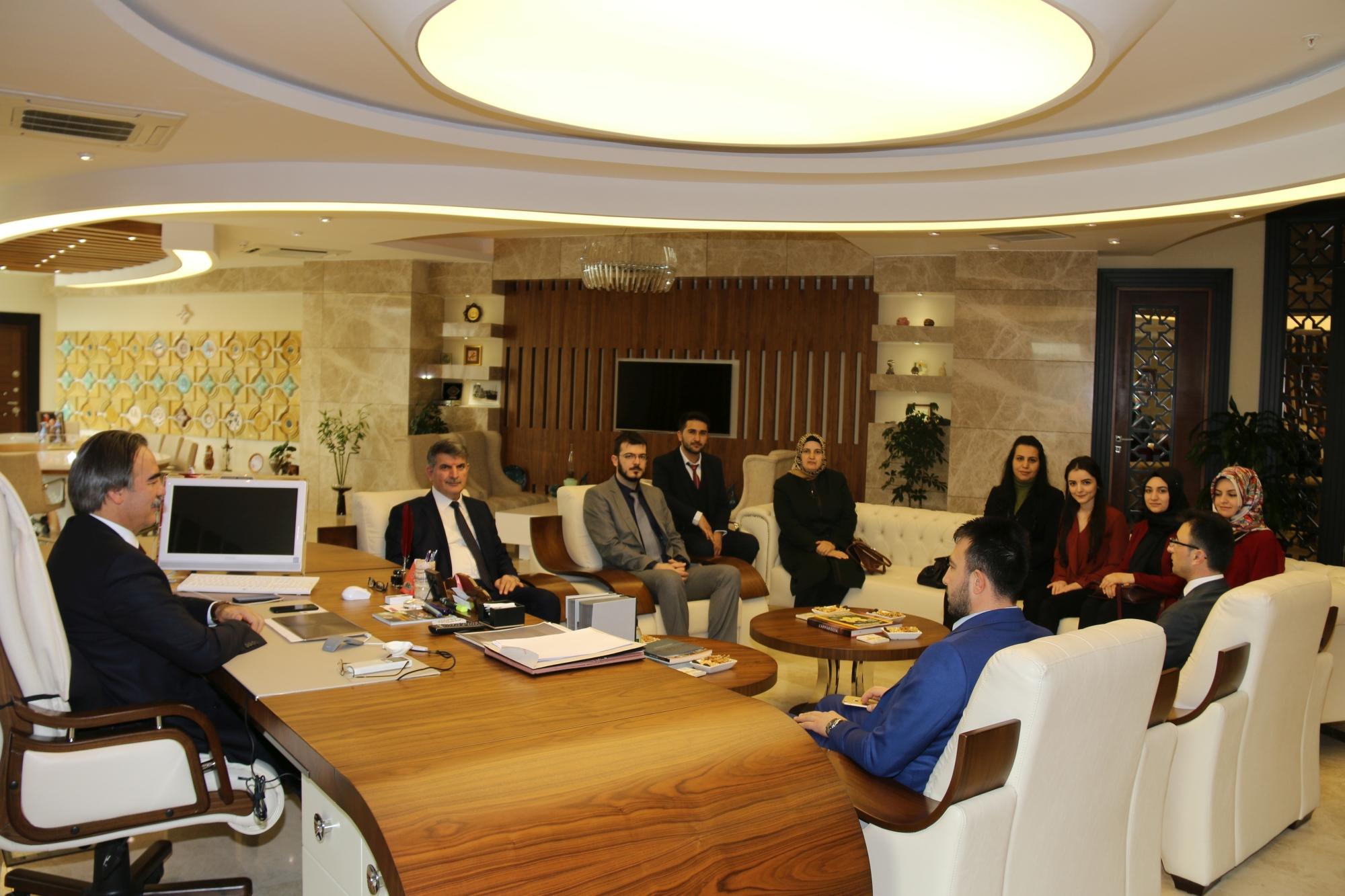 AK Parti Ürgüp İlçe Teşkilatından Rektör Bağlı'ya Ziyaret