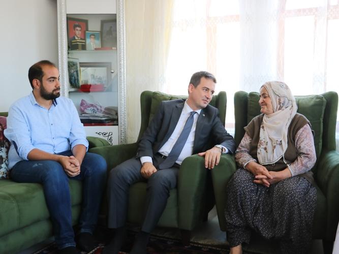 Kaymakam'dan Şehit aileleri ve Gazilere Ziyaret