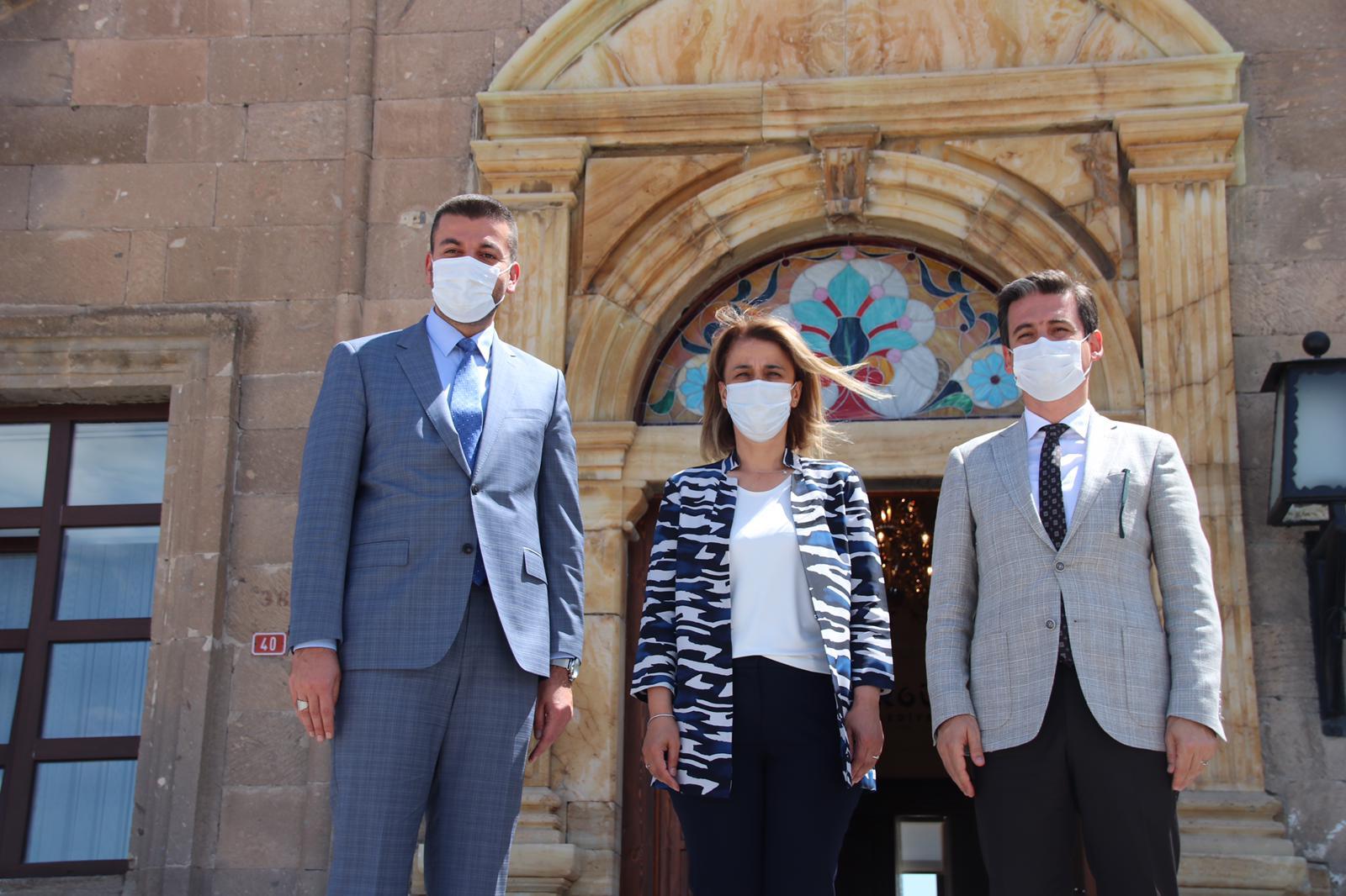 Nevşehir Valisi İnci Sezer Becel'den Başkan Aktürk'e Ziyaret