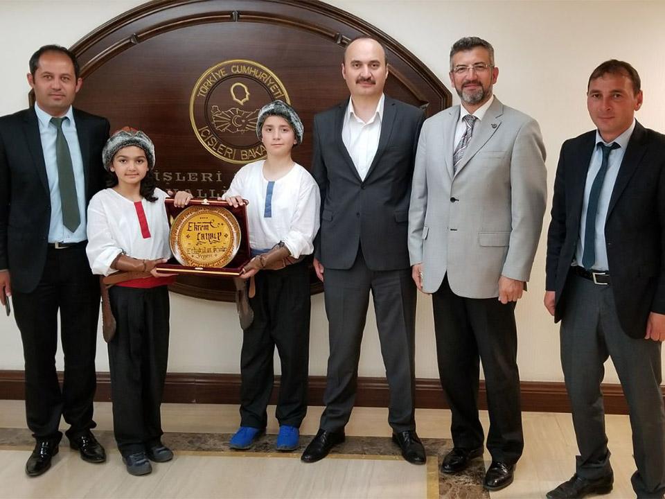 Ertuğrul'un Torunlarından İçişleri Bakanlığı'na Ziyaret