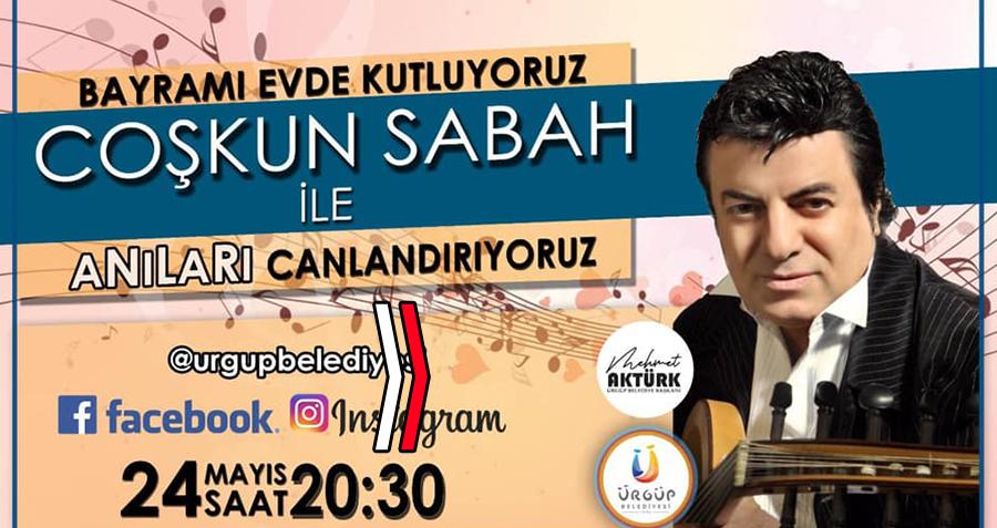 Coşkun Sabah'tan bayramda Ürgüp'e özel Sosyal Medya Konseri