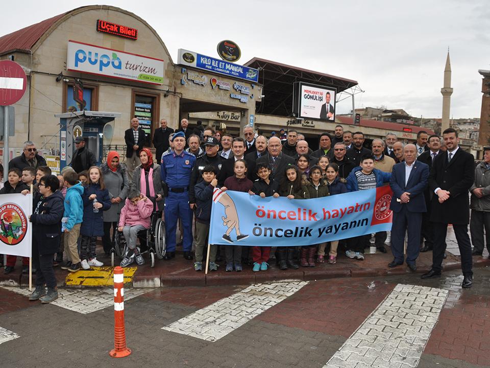 Ürgüp'te Yaya Öncelikli Trafik Kampanyası