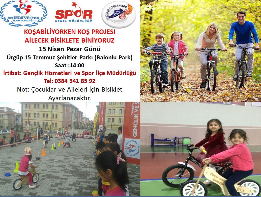 Ailece Bisiklete Biniyoruz Kampanyası