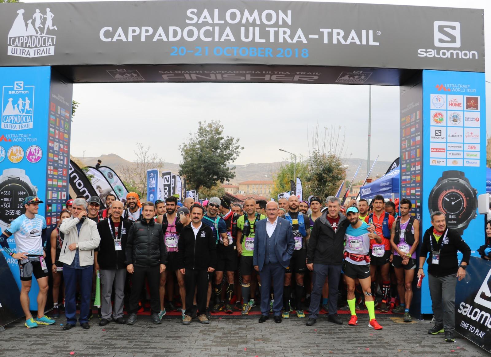 Salomon Kapadokya Ultra Trail yarışı Ürgüp'te başladı