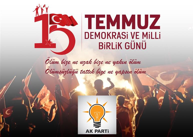 Ak Parti İlçe Başkanı Ali Özer'den 15 Temmuz Mesajı
