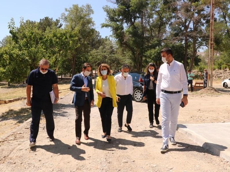 Nevşehir Valisi İnci Sezer Becel Damsa Barajında incelemerle bulundu