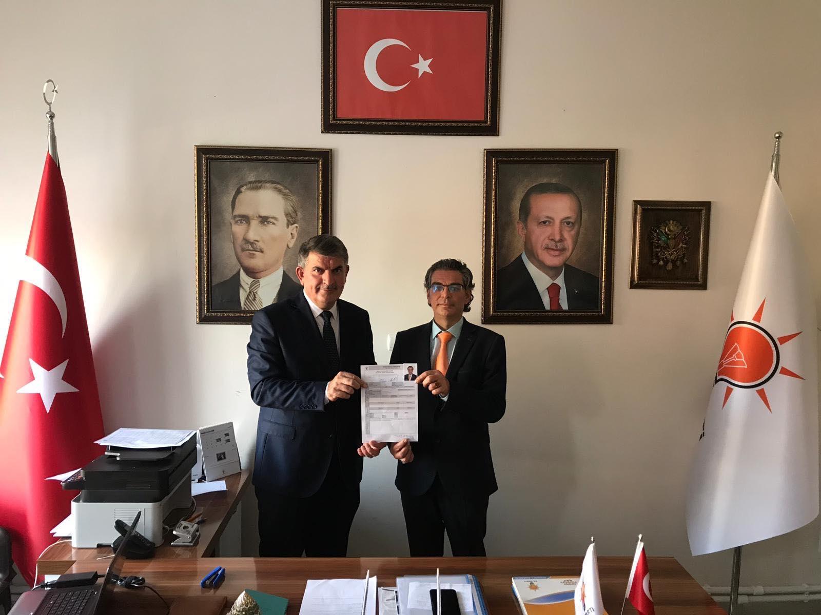 Ahmet Tombak Ortahisar için başvurdu